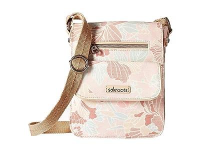 Sakroots Artist Circle Small Flap (Petal Pink Flower Blossom) Cross Body Handbags
