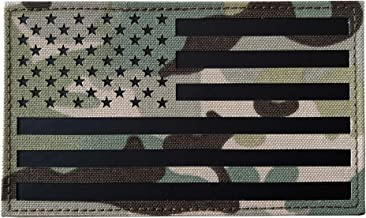 TIMTAC Large 3x5 inch IR Infrared Americam USA US Flag Patch(Multicam)