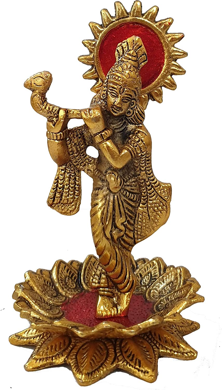 ファッション通販 pranjals house Metal Lord Krishna Idol 8 L H: B ●手数料無料!! Showpiece x