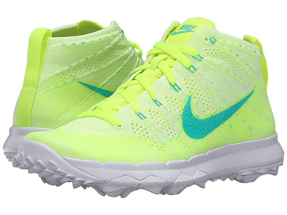 Nike Golf FI Flyknit Chukka (Volt/Clear Jade/White/Liquid Lime) Women