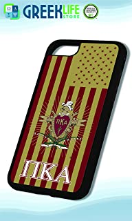 Pi Kappa Alpha Licensed PC + TPU Black Plastic iPhone 7/8 Plus Case