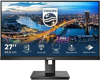 Philips 275B1-27 Inch QHD Monitor, Speakers, Ergonomic Stand, USB Hub, FlickerFree (2560 x 1440, 75 Hz, 300 cd/m², 4 ms, I...
