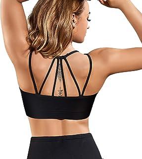 Gotoly Mujer Sujetador Deportivo Camiseta sin Costura Sujetador para Yoga Fitness Ejercicio Diario Ropa interio Almohadill...