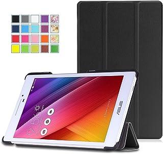 ASUS Zenpad 7.0 Z370CG ケース - ATiC ASUS Zenpad 7.0 Z370CG タブレット専用開閉式三つ折薄型スタンドケース。BLACK
