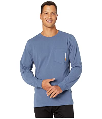 Timberland PRO Base Plate Blended Long Sleeve T-Shirt (Vintage Indigo) Men