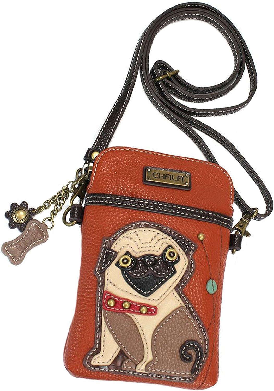 Chala Pug Cellphone Crossbody Handbag  Congreenible Strap Pug Mom