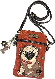 Chala Pug Cellphone Crossbody Handbag - Convertible Strap Pug Mom