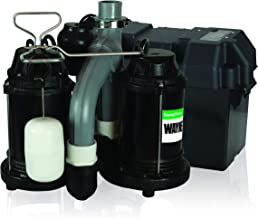 Wayne WSS30VN Upgraded Combination 1/2 HP and 12-Volt Battery Back Up System