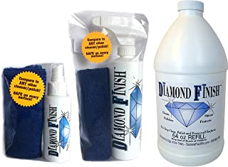 DIAMOND FINISH Premium 84oz Kit Waterless Multi Surface Nano Cleaner Polish Protect Vehicles, Home, Boats; Removes Bug Residue, Tar, Bird Poop, Brake Dust, Tree Sap, Grease, Fingerprints as it Shines