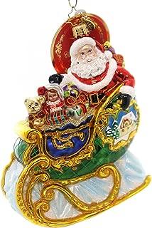 Christopher Radko Village Sleigh Ride Santa Christmas Ornament