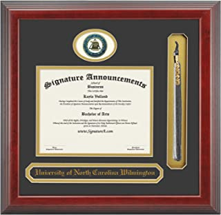 Signature Announcements DF-26001-120532 University of North Carolina Wilmington (UNCW) Graduation Diploma Frame