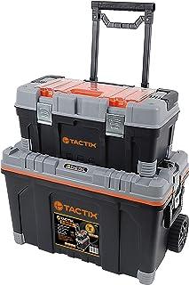 Tactix 26 inch 2 in 1 Rolling Tool Box Set - TTX-320308 W 69.6 x H 49.2 x D 39.4 cm