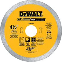 DEWALT DW4765 4-1/2-Inch Porclean Tile Blade Wet/Dry