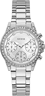 GUESS Womens Quartz Watch, Analog Display and Stainless Steel Strap W1293L1