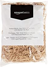 "AmazonBasics Rubber Bands, Size 19 (3-1/2"" x 1/16''), 1250 Bands/1 lb. Pack, 3-Pack"