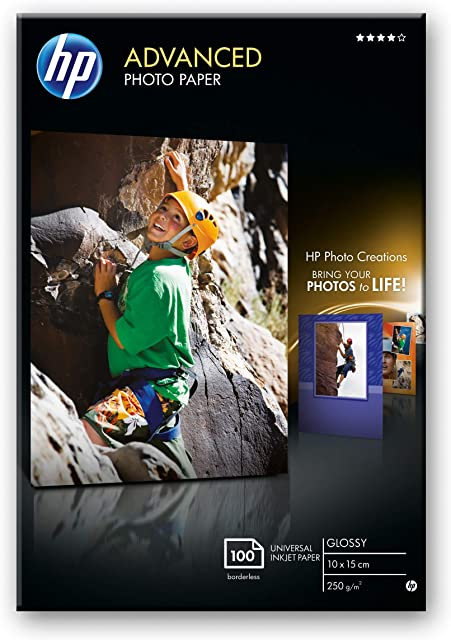 HP Advanced Q8692A - Papel fotográfico (100 hojas 10X15 cm) el Embalaje puede Variar