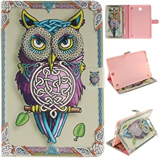Samsung Galaxy Tab A T357 Leather Case,Robot Minions [Owl] PU Leather Tablet PC Accessory Kits Flip Kickstand Protective Sleeve Cover Case For Samsung Galaxy Tab A 8.0 inch SM-T357