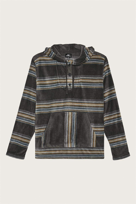 ONEILL Mens 3//4 Button Front Hooded Fleece Superfleece Sweatshirt