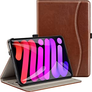 Ztotop Case for New iPad Mini 6 2021 (6th Generation), Premium PU Leather Folio Stand Smart Protective Cover, Multi-Viewing Angles and Auto Wake & Sleep Function for iPad Mini 6th Gen 8.3 Inch - Brown