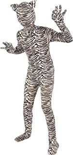 Forum Novelties I'm Invisible Costume Stretch Body Suit, White Tiger, Child Medium