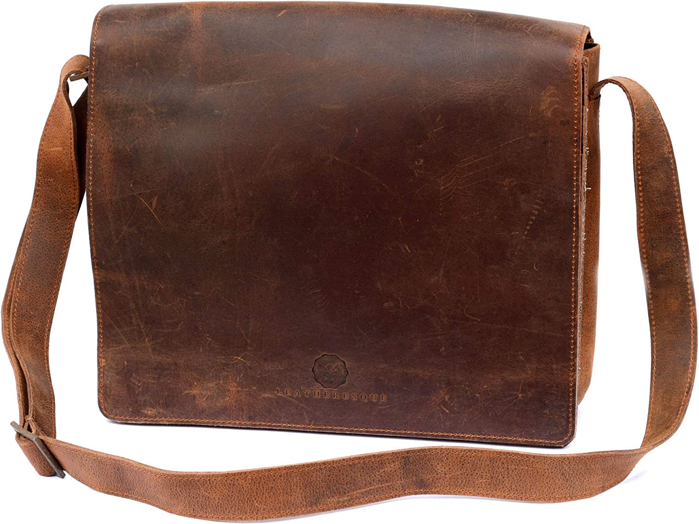 Chelsea Handmade Genuine Leather Messenger Crossbody Very popular! Oakland Mall Laptop Shou