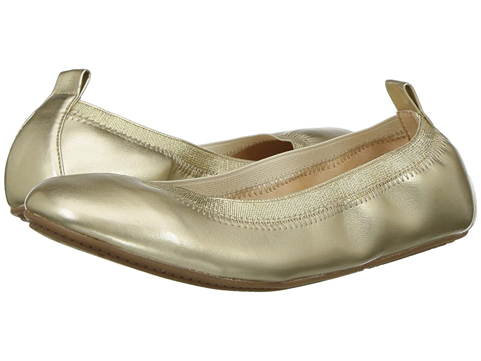 Yosi Samra Kids Miss Samara Metallic Ballet Flat (Toddler/Little Kid/Big Kid) (Gold Metallic) Girls Shoes