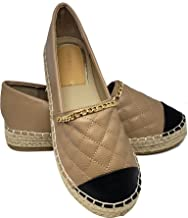 VICTORIA ADAMES Kendall Espadrilles Shoes Taupe Size 5