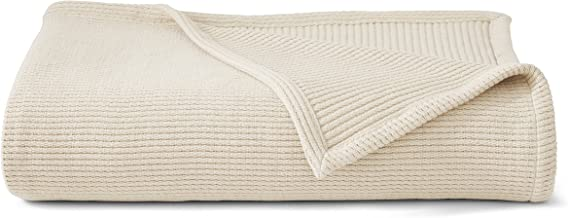 "Grund Plush Organic Throw, Ultra-Soft, Certified 100% Organic Cotton, 66"" X 90"", Ivory"