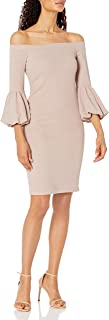 Eliza J womens Off The Shoulder Bodycon Dress With Balloon Sleeve Dress