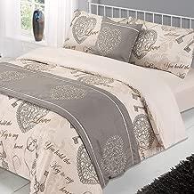 Dreamscene–Antoinette cama en una bolsa conjunto completo con fundas de almohada Set con fundas de almohada, Natural, King