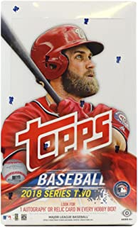 2018 Topps Series 2 Baseball Hobby Box (36 Packs/10 Cards: 1 Autograph or relic)