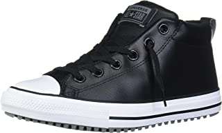 Kids' Chuck Taylor All Star Leather Street Mid Top Sneaker Boot