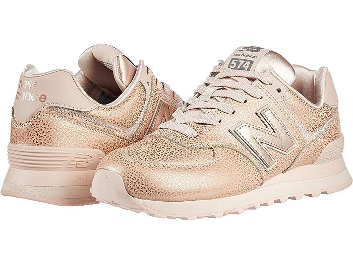 new balance metallic 574 sneakers