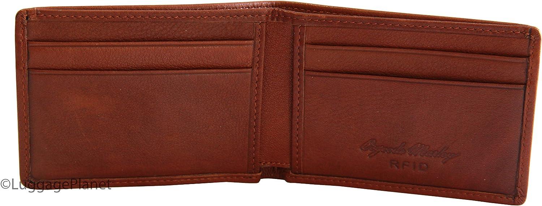 Osgoode Marley RFID Ultra Mini Thinfold Mens Bifold Wallet - Brandy