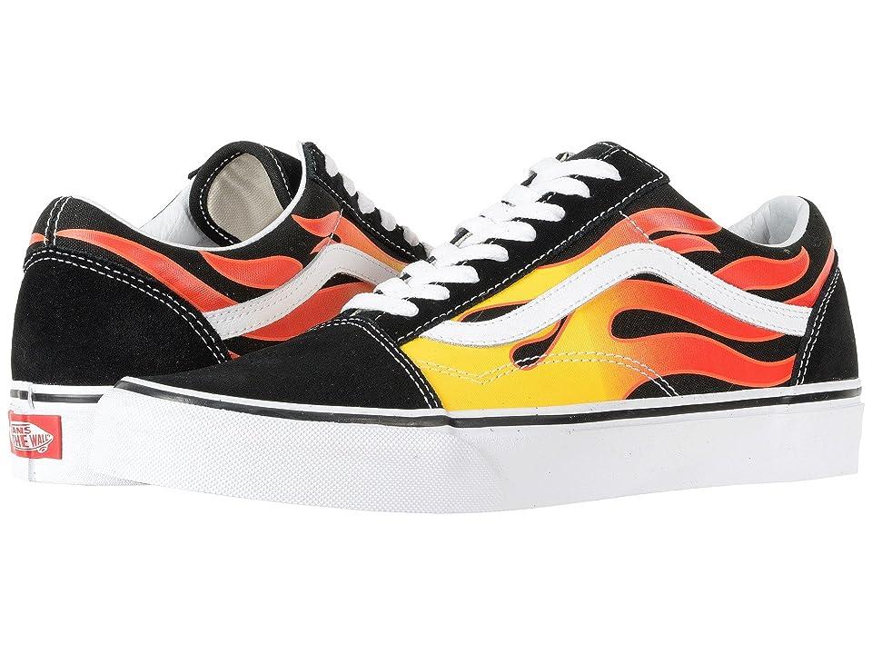 Vans Old Skooltm ((Flame) Black/Black/True White) Skate Shoes