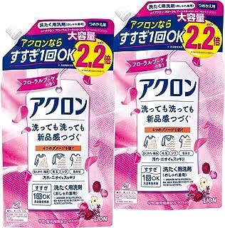 【まとめ買い 大容量】アクロン おしゃれぎ用洗剤 フローラルブーケの香り 洗濯洗剤 液体 詰め替え 900ml×2個セット