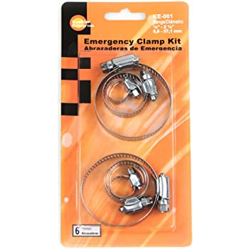 Koehler Enterprises KE001 Hose Clamp Emergency Kit, 6 Piece