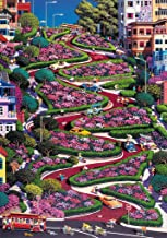 Wentworth Lombard Street San Francisco 500 Piece Wooden Alexander Chen Jigsaw Puzzle with Wood Whimsy Pieces