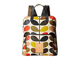 Matt Laminated Classic Multi Stem Backpack Tote