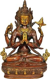 Chenrezig (Four Armed Avalokiteshvara) - Brass Statue
