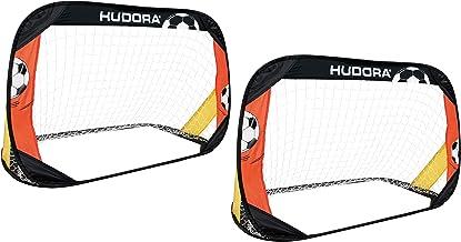Hudora pop-up voetbaldoel, set van 2 tuin voetbaldoelen, opvouwbaar en draagbaar, standaard of exclusief voetbaldoel, voor...