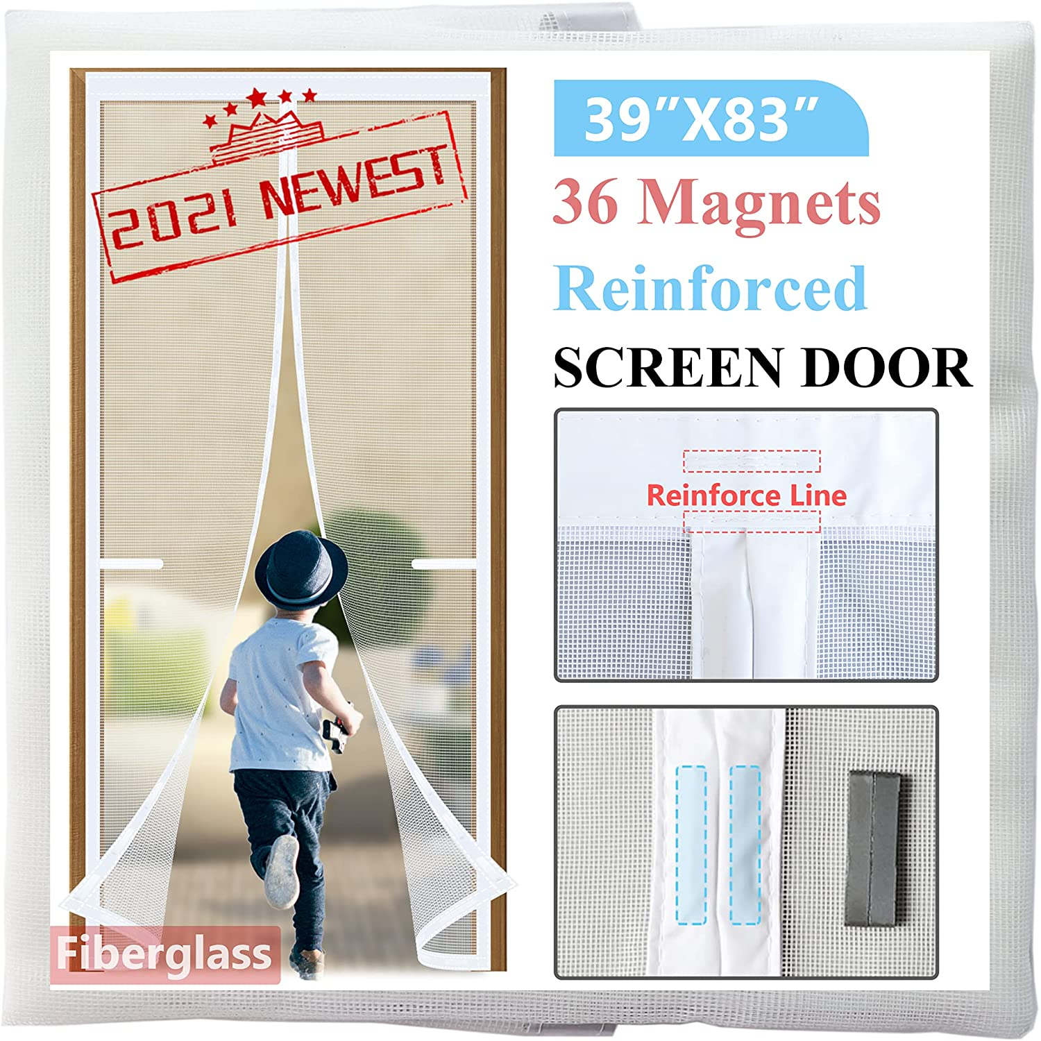 Door sale supreme Screen Magnetic Closure 39x83 Version 36 with 2021-Upgraded