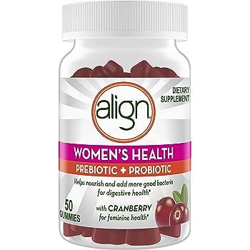 Align Women's Prebiotics + Probiotics Supplement Gummies, 50 Count, Digestive Health with Cranberry for Feminine Health