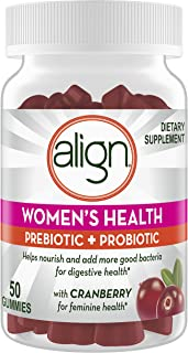 Align Women's Health, Prebiotic + Probiotic, Help Nourish & Add Good Bacteria for Digestive Health, with Cranberry for Fem...