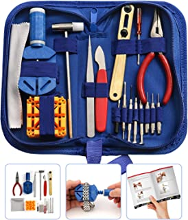 Bodi Hut Watch Repair Tool Kit with Strong Storage Case, Microfibre Cleaning Towel and Full Step By Step Instructions (16 pieces)