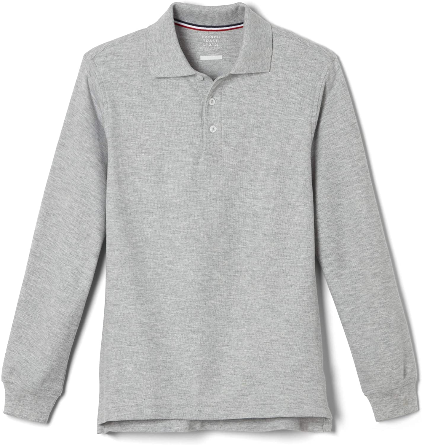 French Toast Girls' Big Long-Sleeve Pique Polo