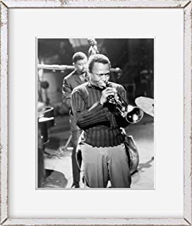 INFINITE PHOTOGRAPHS Photo: Miles Davis   Playing Horn   Musician   1960   Historic Photo Reproduction   Home Decor