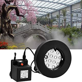 VEVOR 12 Head Ultrasonic Mist Maker Fogger 3.5A36V 350W Mist Maker Fogger Air Humidifier w/Transformer Accessories for Industrial Scenic Agriculture Greenhouse Hydroponics Garden/Lawn/Pond