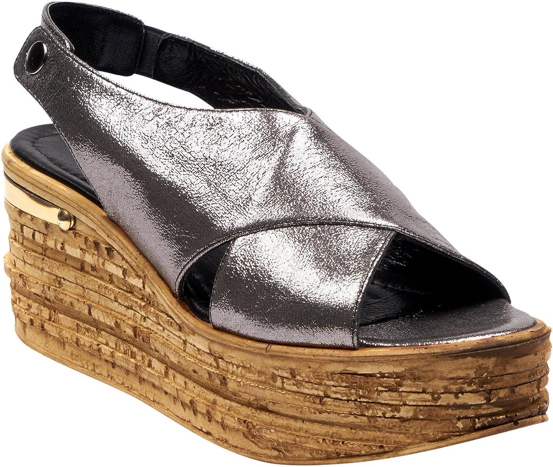 BOBERCK Carmen Collection Leather Women's Wedge Sandal