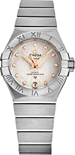 Omega - Constellation automático diamante plata Dial señoras reloj 127.10.27.20.52.001